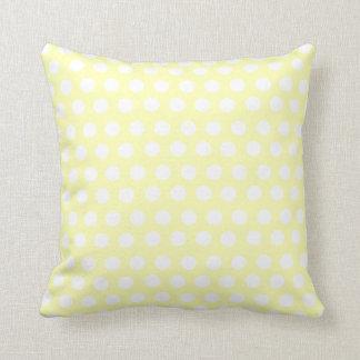 Lunares amarillos cojin