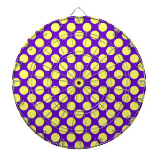 Lunares amarillos con el fondo púrpura