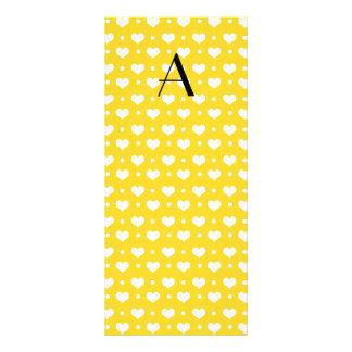 Lunares amarillos de los corazones del monograma plantilla de lona