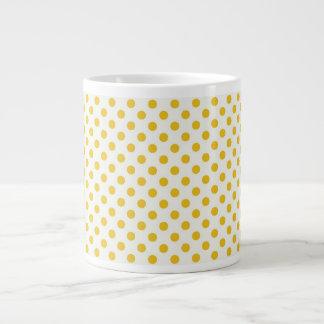 Lunares amarillos de oro taza grande