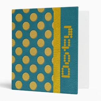 """Lunares amarillos en textura del cuero de la carpeta 1"""""""
