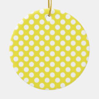 Lunares amarillos limón ornamentos de reyes magos