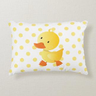 Lunares amarillos lindos de Duckie Cojín