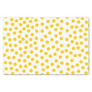 Lunares amarillos papel de seda pequeño