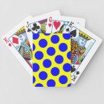 Lunares amarillos y azules barajas de cartas