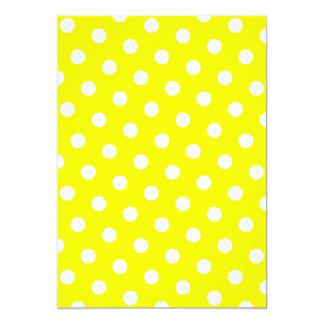 """Lunares amarillos y blancos invitación 5"""" x 7"""""""