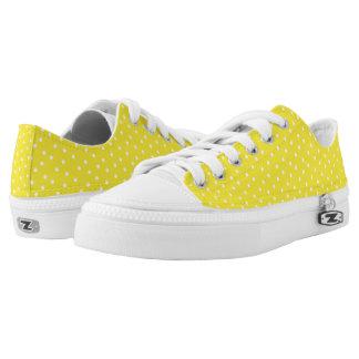 Lunares amarillos y blancos lindos zapatillas