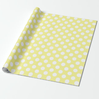 Lunares amarillos y blancos soleados papel de regalo