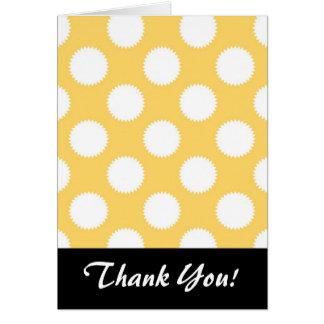 Lunares amarillos y blancos tarjeta pequeña