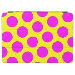 Lunares amarillos y magentas cubierta de iPad air