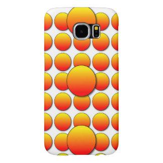Lunares anaranjados 3D Fundas Samsung Galaxy S6