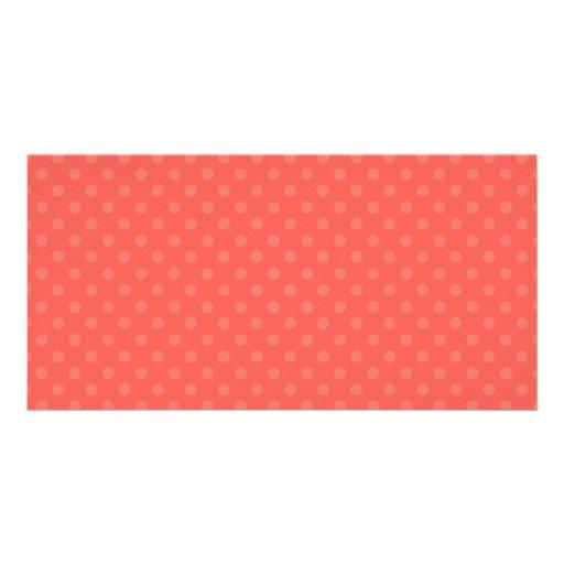 Lunares anaranjados claros tarjeta personal con foto