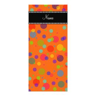 Lunares anaranjados conocidos personalizados del a lona publicitaria