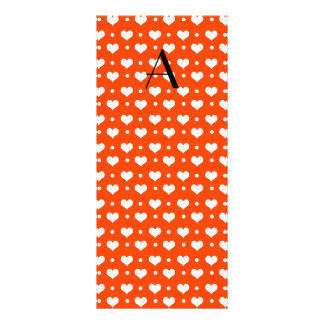 Lunares anaranjados de neón de los corazones del plantillas de lonas