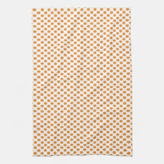 Lunares anaranjados en blanco toalla de cocina
