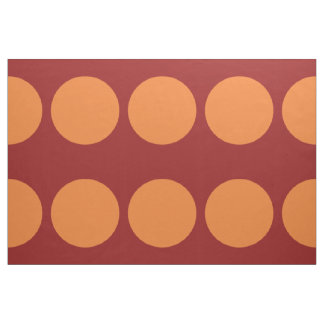 Lunares anaranjados intrépidos en tela roja telas