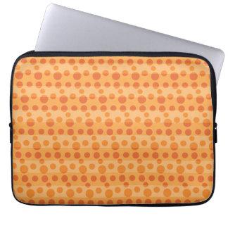 Lunares anaranjados manga portátil
