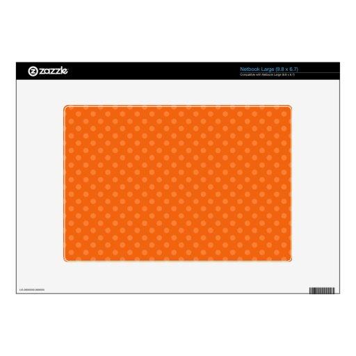 Lunares anaranjados netbook grande calcomanía