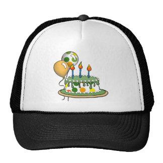 Lunares anaranjados verdes Cake-004 Gorro De Camionero