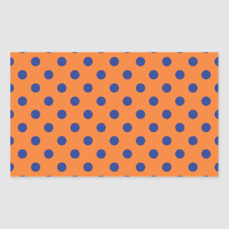 Lunares anaranjados y azules rectangular altavoz