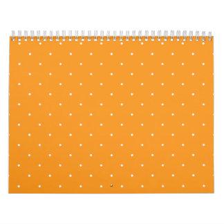 Lunares anaranjados y blancos calendarios