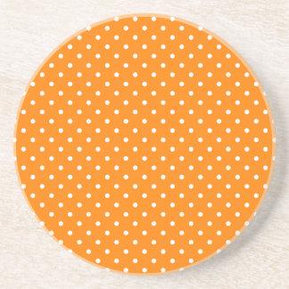 Lunares anaranjados y blancos posavasos manualidades