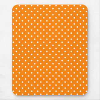 Lunares anaranjados y blancos tapetes de ratones
