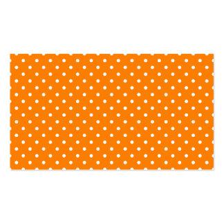 Lunares anaranjados y blancos tarjetas de visita