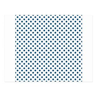 Lunares - añil en blanco tarjetas postales