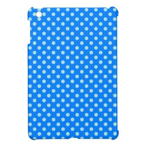 Lunares - azul de la ventisca en azul iPad mini cobertura