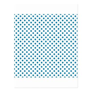 Lunares - azul del Celadon en blanco Postales