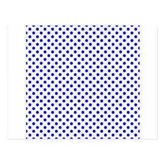 Lunares - azul medio en blanco postal