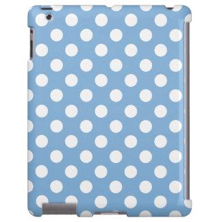 Lunares azules apacibles del color 2014 de la tend funda para iPad