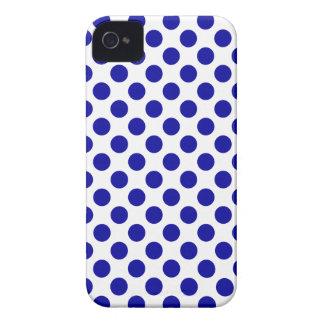 Lunares azules blancos - caso del iPhone 4/4S Case-Mate iPhone 4 Carcasas