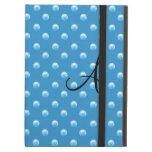 Lunares azules brumosos de la perla del monograma