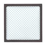 Lunares - azules claros en blanco cajas de joyas de calidad