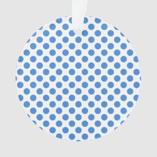 Lunares azules con el fondo adaptable