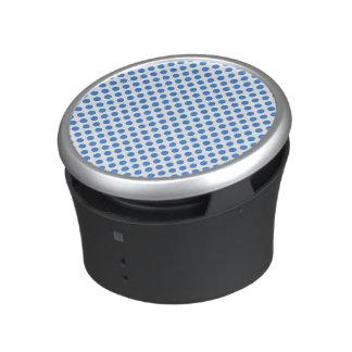 Lunares azules con el fondo adaptable altavoz bluetooth