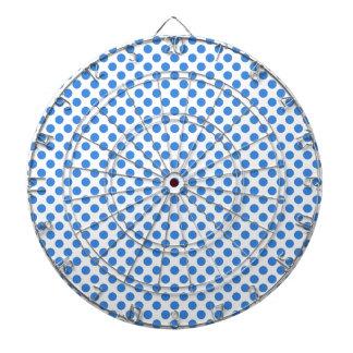 Lunares azules con el fondo adaptable tablero de dardos