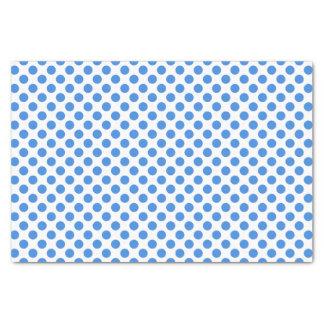 Lunares azules con el fondo adaptable papel de seda pequeño