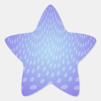 Lunares azules de la lluvia pegatina en forma de estrella