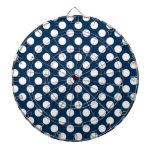 Lunares azules de medianoche oscuros tablero de dardos