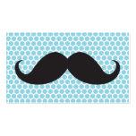 Lunares azules del bigote negro divertido personal plantilla de tarjeta de negocio