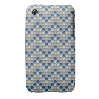 Lunares azules en modelo de zigzag funda bareyly there para iPhone 3 de Case-Mate