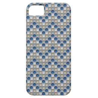 Lunares azules en modelo de zigzag funda para iPhone SE/5/5s