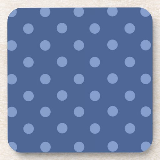 Lunares azules grandes posavasos de bebidas
