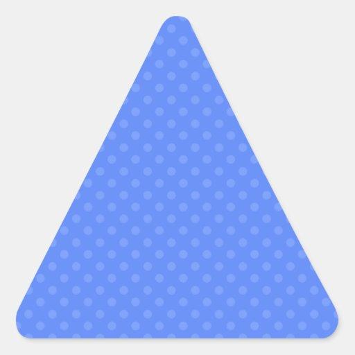 Lunares azules calcomanías trianguladas personalizadas