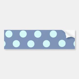 Lunares azules polvorientos etiqueta de parachoque