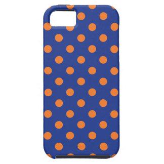 Lunares azules y anaranjados funda para iPhone SE/5/5s