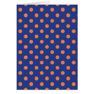 Lunares azules y anaranjados tarjeta